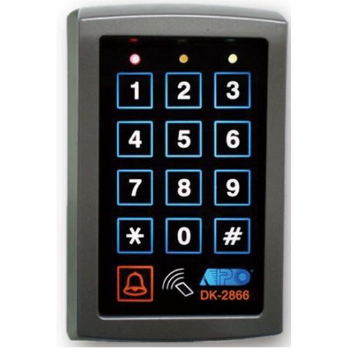 apo aei dk 2822a b compact reader pin code keypad dual. Black Bedroom Furniture Sets. Home Design Ideas